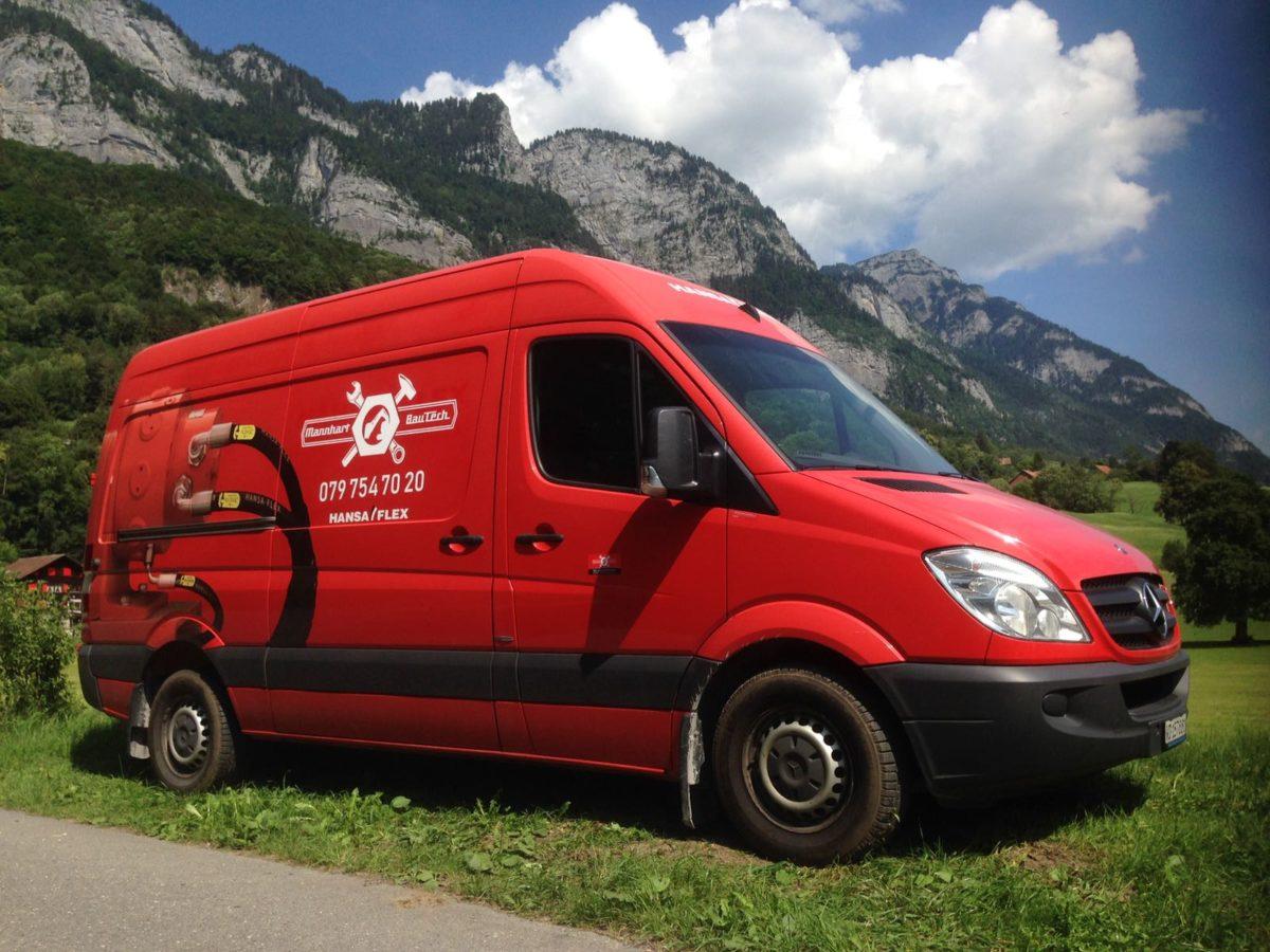 Hydraulikschlauchservice-Bus