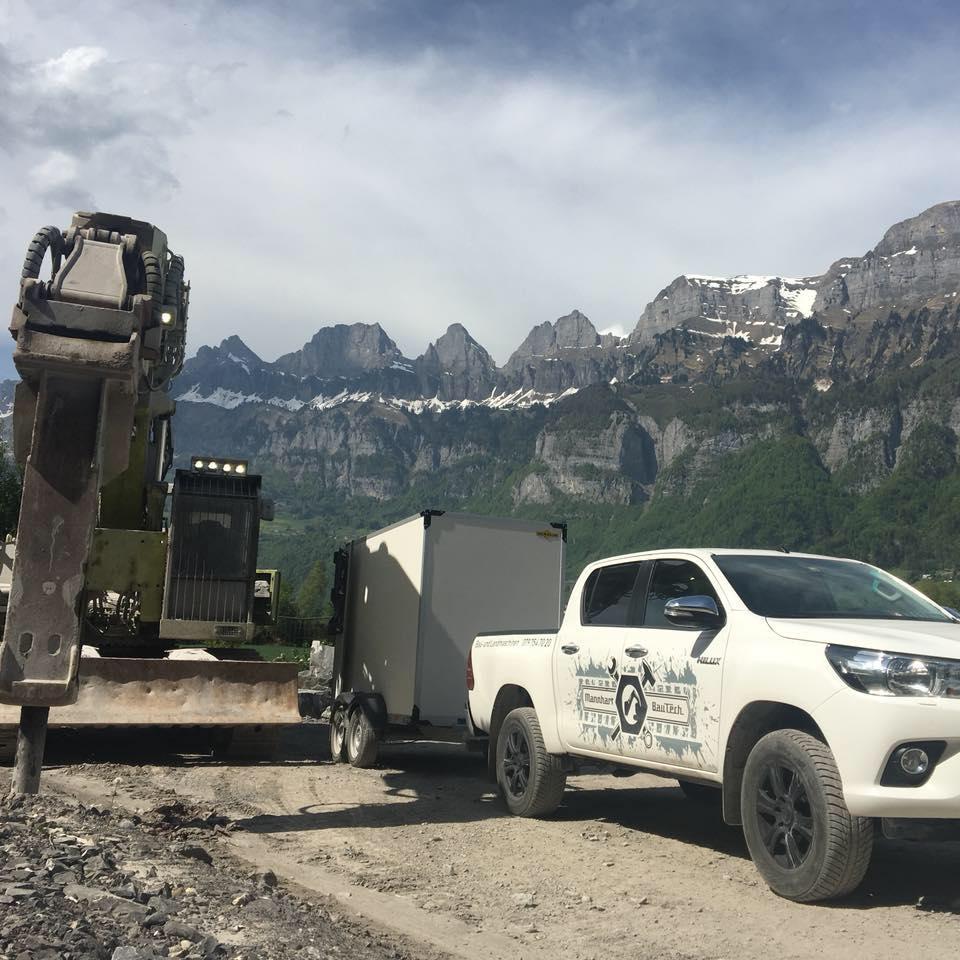 Mobile Werkstatt vor Ort im Einsatz