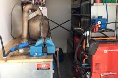 TIG- Schweissarbeiten an Partikelfilteranlage vor Ort
