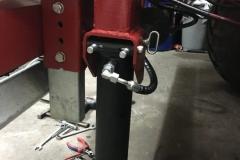 Stützzylinder für Baggertransport